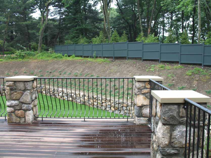 Forged Bow Steel Deck Railings - Post Road Iron Works